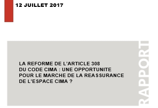 The reform of article 308 of the CIMA code: an opportunity for the CIMA space reinsurance market ?