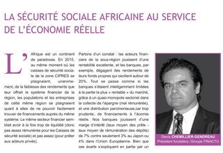 African social security at the service of the real economy (The CIPRES Courier, July 2017)