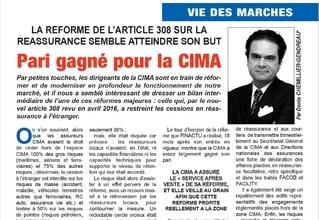 La réforme de l'article 308 sur la réassurance semble atteindre son but : Pari gagné pour la CIMA (L'assureur africain, n°109, Juin 2018)