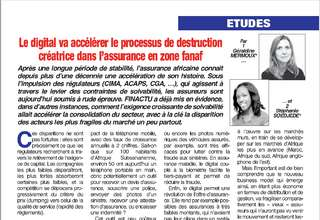 Chronique de FINACTU pour l'assureur africain (n°110 - décembre 2019) :