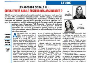 Chronique de FINACTU pour l'Assureur Africain (n°111 mars 2019) :